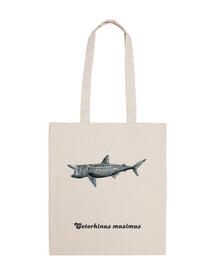 Bolsa tela Tiburón peregrino (Cetorhinus maximus)