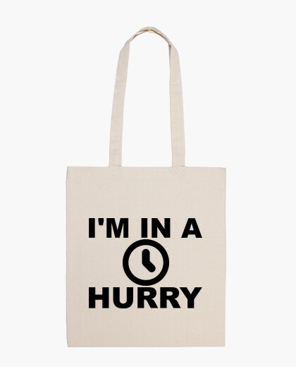 Bolsa Tengo prisa - In a hurry