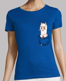 bolsillo alpaca linda - camisa de mujer