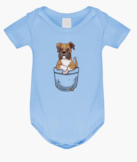 Ropa infantil bolsillo boxeador lindo cachorro