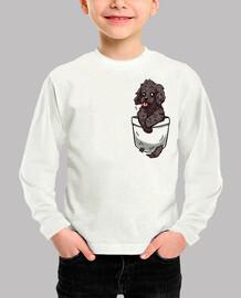 bolsillo cachorro cockapoo - camisa de niños