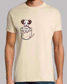 bolsillo dalmation puppy - camisa para hombre