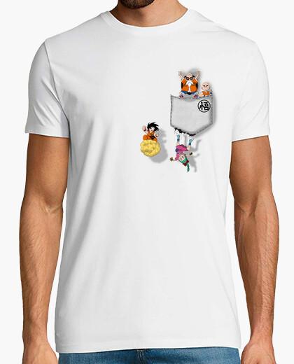 Camiseta bolsillo de la bola de dragón