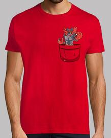 bolsillo incineroar - camisa de hombre