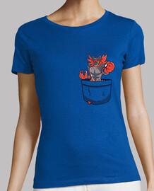 bolsillo incineroar - camisa de mujer