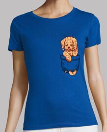 bolsillo labradoodle cachorro - camisa de mujer