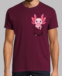 bolsillo lindo axolotl salamander - camisa de hombre