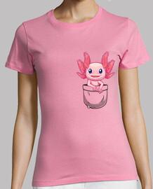 bolsillo lindo axolotl salamander - camisa de mujer