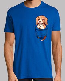 bolsillo lindo beagle - camisa de hombre