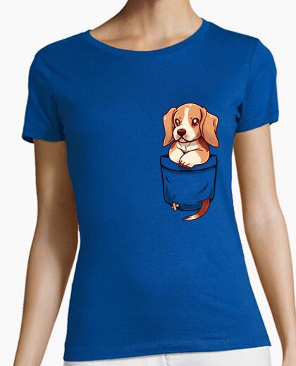 Camiseta bolsillo lindo beagle - camisa de...