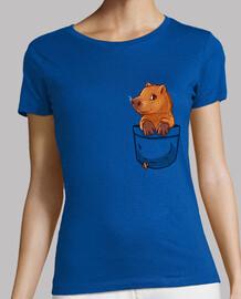 bolsillo lindo capibara - camisa de mujer