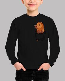 bolsillo lindo capibara - camisa de niños