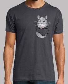 bolsillo lindo chinchilla gris - camisa para hombre