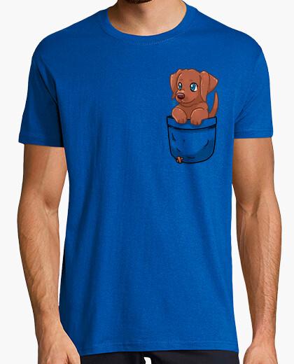 Camiseta bolsillo lindo chocolate labrador - camisa para hombre