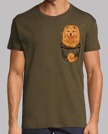 bolsillo lindo chow chow - camisa de hombre