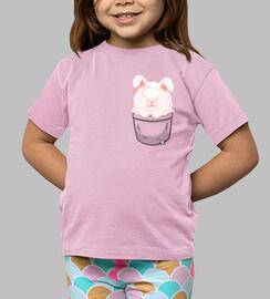 bolsillo lindo conejo de angora - camisa de niños