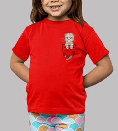 bolsillo lindo escocés pliegue - camisa de los niños