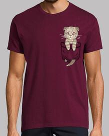 bolsillo lindo escocés pliegue - camisa para hombre