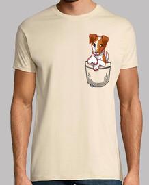 bolsillo lindo fox terrier hound liso - camisa para hombre
