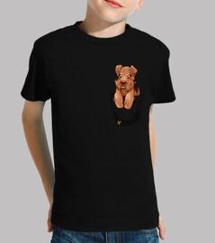 bolsillo lindo galés terrier cachorro - camisa de niños