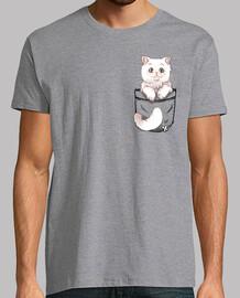 bolsillo lindo gato persa - camisa para hombre