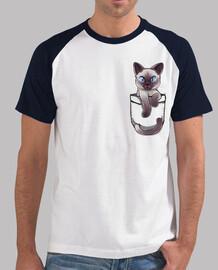 bolsillo lindo gato siamés - béisbol de los hombres