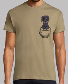 bolsillo lindo great dane dog - camisa de hombre