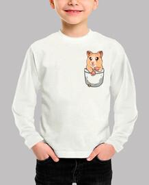 bolsillo lindo hámster mascota - camisa de niños