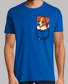 bolsillo lindo jack russell terrier - camisa de hombre