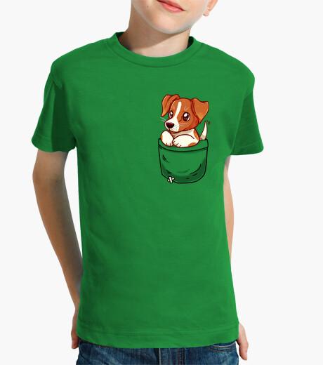 Ropa infantil bolsillo lindo jack russell terrier - camisa de niños
