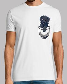 bolsillo lindo labrador negro - camisa para hombre