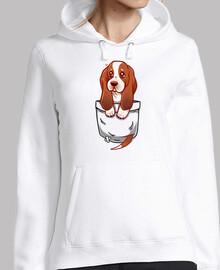 bolsillo lindo perrito de Basset Hound