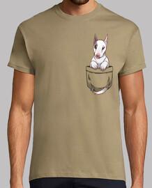 bolsillo lindo perro bull terrier - camisa de hombre