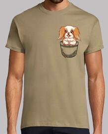 bolsillo lindo perro chin japonés - camisa de hombre