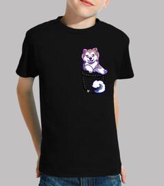 bolsillo lindo perro esquimal canadiense - camisa para niños