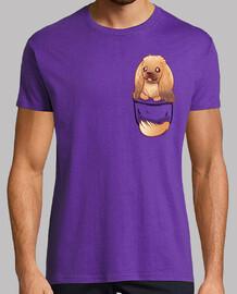 bolsillo lindo perro pekingese - camisa para hombre