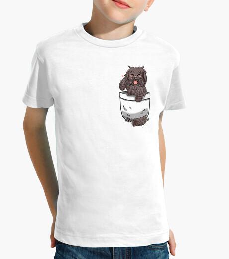 Ropa infantil bolsillo lindo perro puli - camisa de niños