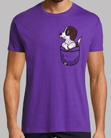 bolsillo lindo perro puntero - camisa para hombre