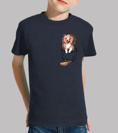bolsillo lindo perro sheltie - camisa para niños