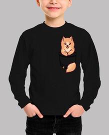 bolsillo lindo pomerania - camisa de niños