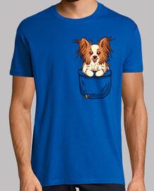 bolsillo papillon puppy - camisa de hombre