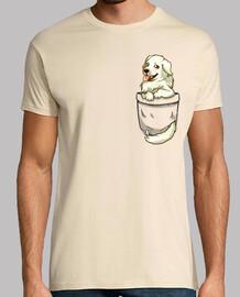 bolsillo perrito pyrenees lindo - camisa para hombre