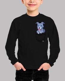 bolsillo pibble pitbull puppy - camisa de niños