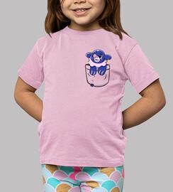 bolsillo popplio brillante - camisa de niños