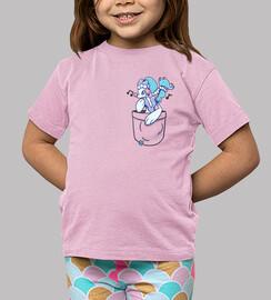 bolsillo primarina - camisa de niños