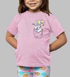 bolsillo primarina brillante - camisa de niños