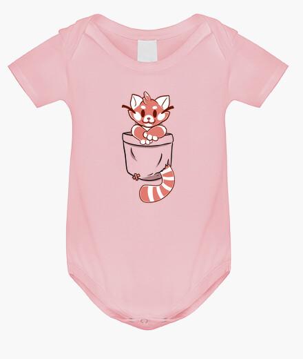 Ropa infantil bolsillo rojo panda - ropa de bebé