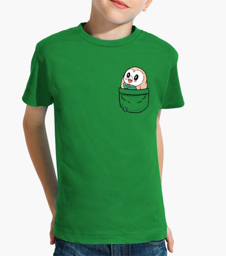 Ropa infantil bolsillo rowlet - camisa de los niños
