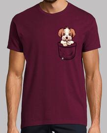 bolsillo shih tzu - camisa de hombre