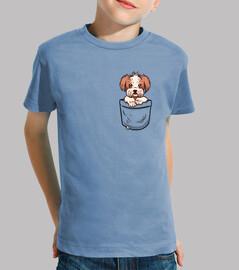 bolsillo shih tzu - camisa de niños